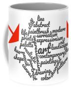 Art Word Cloud 1 Coffee Mug