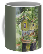 Artful Birdhouse Coffee Mug