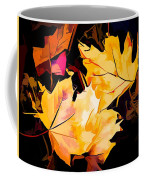 Artful Maple Leaves Coffee Mug