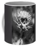 Artichoke Thistle Bw Coffee Mug
