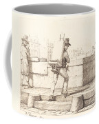 Artist Carrying Easel With A Lithographic Stone Coffee Mug