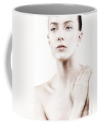 Artistic Bright Beauty Portrait Of Young Woman With Natural Look Coffee Mug