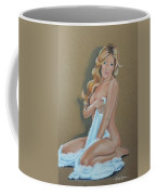 Artistic Nude Pin Up Coffee Mug by Leida Nogueira