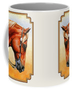 Precision - Horse Painting Coffee Mug by Crista Forest