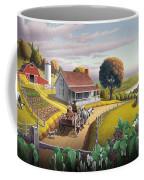 Appalachian Blackberry Patch Rustic Country Farm Folk Art Landscape - Rural Americana - Peaceful Coffee Mug