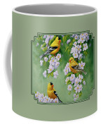 American Goldfinches And Apple Blossoms Coffee Mug
