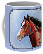 Horse Painting - Determination Coffee Mug