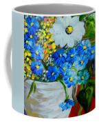 Flowers In A White Vase Coffee Mug