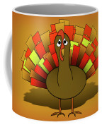 Worried Turkey Illustration Coffee Mug