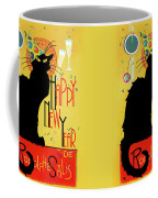 Chat Noir New Years Party Countdown Coffee Mug