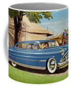 1951 Hudson Hornet Fair Americana Antique Car Auto Nostalgic Rural Country Scene Landscape Painting Coffee Mug