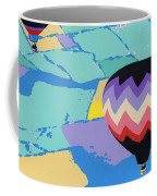 Abstract Hot Air Balloons - Ballooning - Pop Art Nouveau Retro Landscape - 1980s Decorative Stylized Coffee Mug