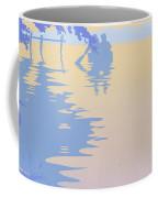 abstract tropical boat Dock Sunset large pop art nouveau retro 1980s florida landscape seascape Coffee Mug