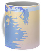abstract tropical boat Dock Sunset large pop art nouveau retro 1980s florida landscape seascape Coffee Mug