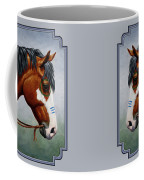 Bay Native American War Horse Coffee Mug by Crista Forest