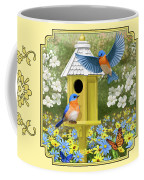 Bluebird Garden Home Coffee Mug by Crista Forest