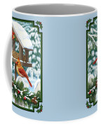 Cardinals Christmas Feast Coffee Mug by Crista Forest