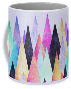 Colorful Abstract Geometric Triangle Peak Woods  Coffee Mug