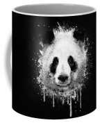 Cool Abstract Graffiti Watercolor Panda Portrait In Black And White  Coffee Mug