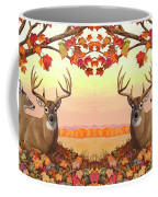 Whitetail Deer - Hilltop Retreat Coffee Mug by Crista Forest