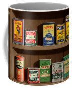 Wall Spice Rack - Americana Kitchen Art Decor - Vintage Spice Cans Tins - Nostalgic Spice Rack Coffee Mug