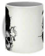 Raven And Skull Coffee Mug
