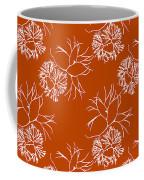 Orange Seaweed Marine Art Furcellaria Fastigiata Coffee Mug