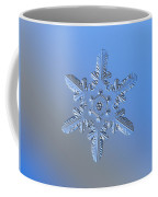Snowflake Photo - Heart-powered Star Alternate Coffee Mug by Alexey Kljatov