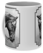 Western Horse Black And White Coffee Mug by Crista Forest