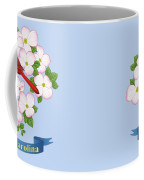 North Carolina State Bird And Flower Coffee Mug by Crista Forest