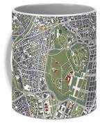 Tokyo City Map Engraving Coffee Mug