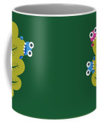 Cute Bugs Eat Green Leaf Coffee Mug