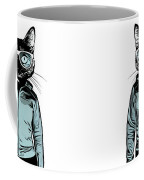 Cool Cat Coffee Mug by Nicklas Gustafsson