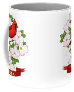 Virginia State Bird Cardinal And Flowering Dogwood Coffee Mug by Crista Forest
