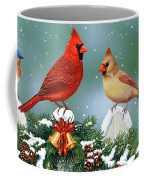 Winter Birds And Christmas Garland Coffee Mug