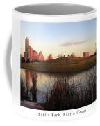 Birds And Fun At Butler Park Austin - Silhouettes 1 Poster And Greeting Card Coffee Mug