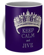 Keep Calm And Jive Diamond Tiara Deep Purple  Coffee Mug