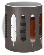 Raptor Feathers - Square Coffee Mug by Peter Green