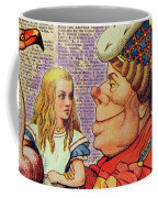 Alice With The Duchess Vintage Dictionary Art Coffee Mug