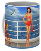 Beauty From The 50s In Bikini  Coffee Mug