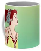 Pop Art Lady Coffee Mug