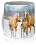 Palomino Horses In Winter Pasture Coffee Mug