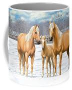 Palomino Horses In Winter Pasture Coffee Mug
