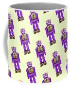 Star Strider Robot Purple Pattern Coffee Mug