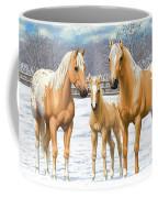 Palomino Appaloosa Horses In Winter Coffee Mug