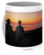 la Casita Playa Hermosa Puntarenas Costa Rica - Sunset Happy Couple Panorama Poster Coffee Mug