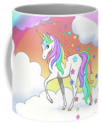 Rainbow Unicorn Clouds And Stars Coffee Mug