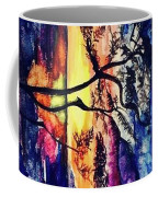 Indian Summer Watercolour Framed Handmade Painting Coffee Mug
