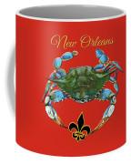 Louisiana Blue On Red Coffee Mug by Dianne Parks