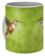 Hummingbird In Flight Coffee Mug by Denise Bird